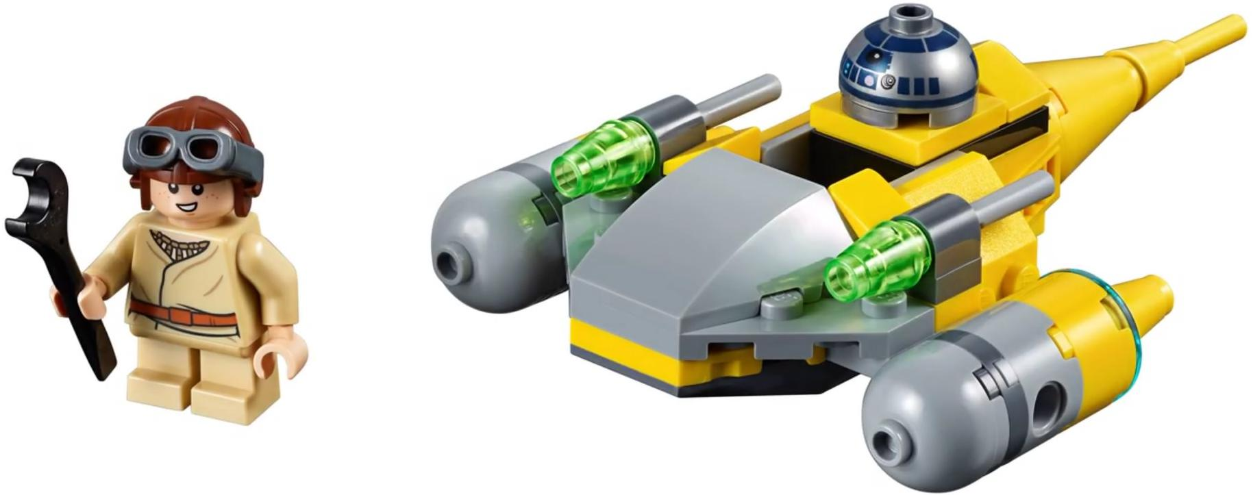 75223 Naboo Starfighter Microfighter Build and Minifigure