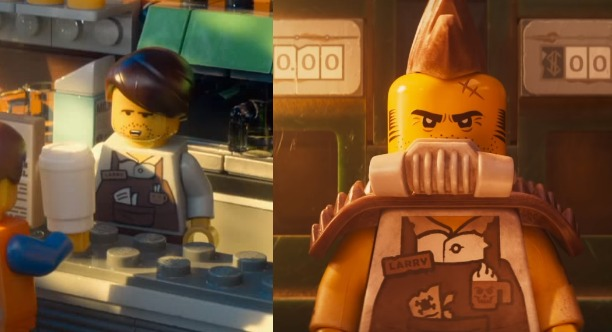 Before and After for Larry the Barista in The LEGO Movie 2