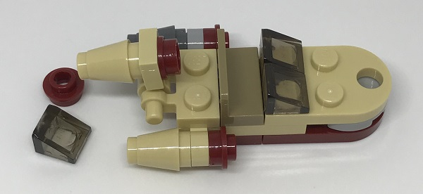 Day 1 Build - Luke's Landspeeder Side View - LEGO 75213 Star Wars Advent Calendar 2018 Review