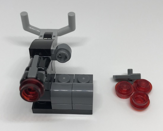 Day 10 Build - Turret Front - LEGO 75213 Star Wars Advent Calendar 2018 Review