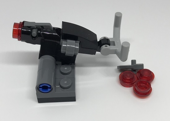 Day 10 Build - Turret Side - LEGO 75213 Star Wars Advent Calendar 2018 Review