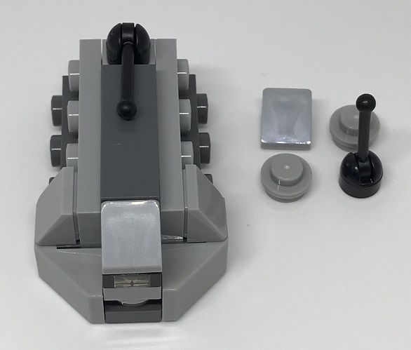 Day 13 Build - Imperial Troop Transport Front View - LEGO 75213 Star Wars Advent Calendar 2018 Review