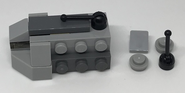 Day 13 Build - Imperial Troop Transport Side View - LEGO 75213 Star Wars Advent Calendar 2018 Review