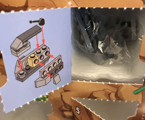 Day 13 Window Opened - Imperial Troop Transport Build - LEGO 75213 Star Wars Advent Calendar 2018 Review