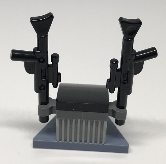 Day 14 Build - Blaster Holder Back View - LEGO 75213 Star Wars Advent Calendar 2018 Review
