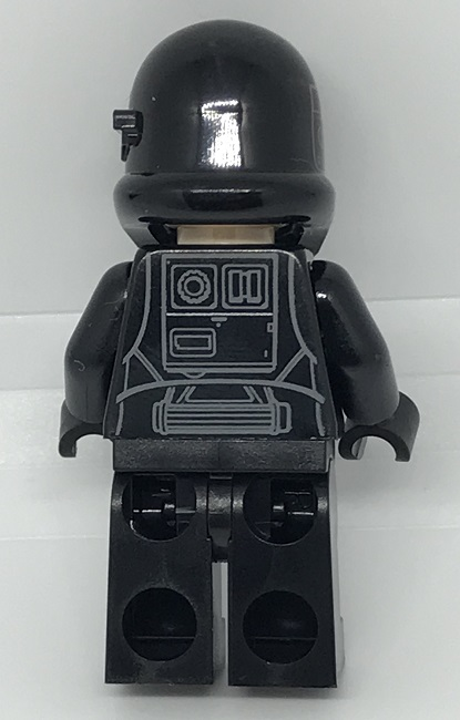 Day 15 Build - Imperial Death Trooper Minifigure Back View - LEGO 75213 Star Wars Advent Calendar 2018 Review