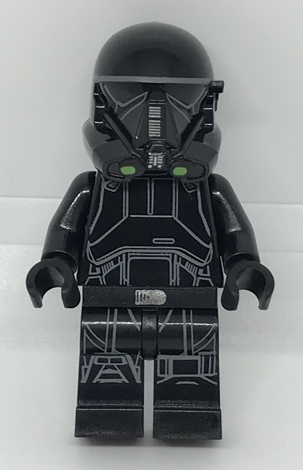 Day 15 Build - Imperial Death Trooper Minifigure Front View - LEGO 75213 Star Wars Advent Calendar 2018 Review