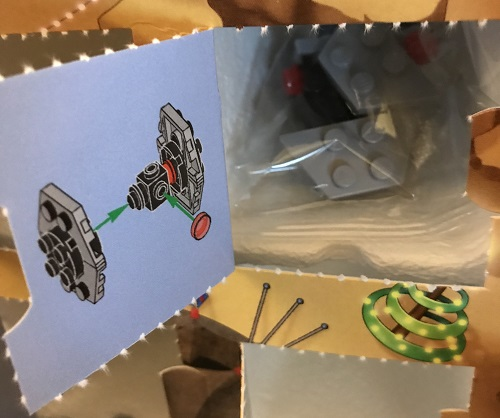 Day 18 Window Opened - First Order TIE Fighter - LEGO 75213 Star Wars Advent Calendar 2018 Review