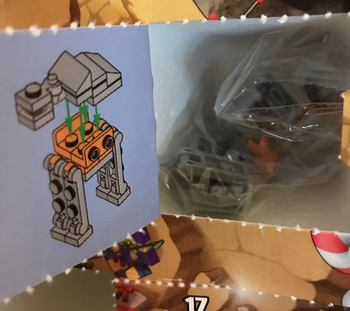 Day 19 Window Opened - AT-ACT - LEGO 75213 Star Wars Advent Calendar 2018 Review