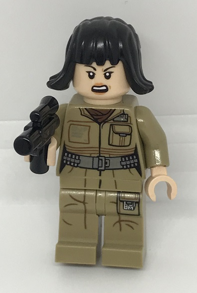 Day 2 Build - Rose Tico Minifigure Front View - LEGO 75213 Star Wars Advent Calendar 2018 Review