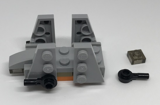 Day 20 Build - Zeta Class Shuttle Side - LEGO 75213 Star Wars Advent Calendar 2018 Review