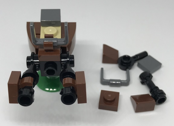 Day 21 Build - Speeder Bike Front View - LEGO 75213 Star Wars Advent Calendar 2018 Review