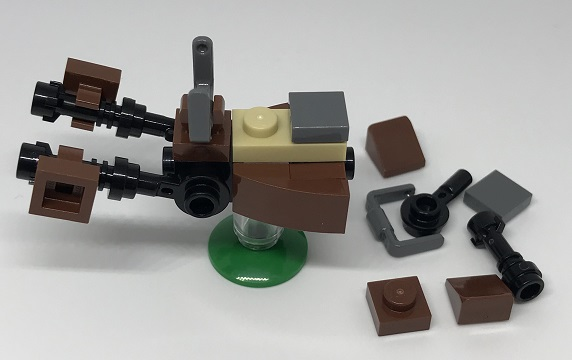 Day 21 Build - Speeder Bike Side View - LEGO 75213 Star Wars Advent Calendar 2018 Review