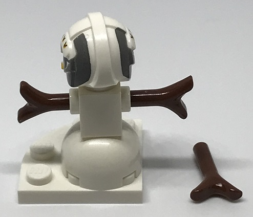 Day 24 Build - Snowman Pilot Back View - LEGO 75213 Star Wars Advent Calendar 2018 Review