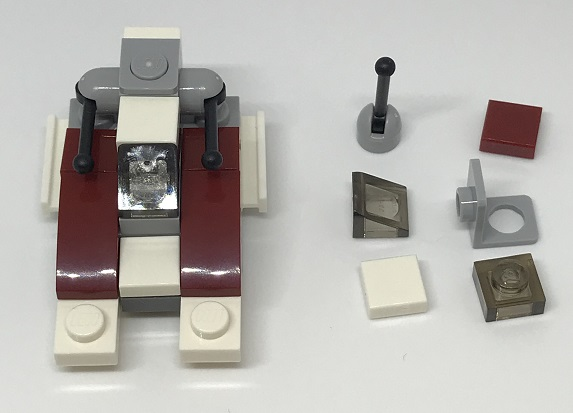 Day 4 Build - Republic Fighter Tank Front View - LEGO 75213 Star Wars Advent Calendar 2018 Review