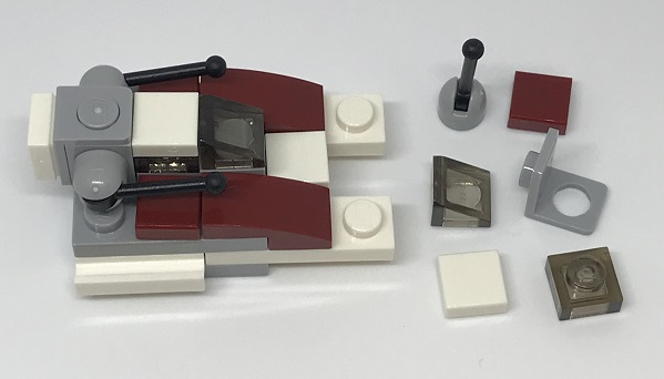 Day 4 Build - Republic Fighter Tank Side View - LEGO 75213 Star Wars Advent Calendar 2018 Review