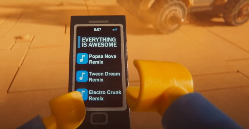 Emmet Phone Playlist Printed Tile Accessory - The LEGO Movie 2 Minifigure Series Rumour