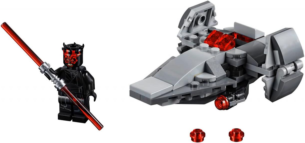 LEGO 75224 Sith Infiltrator Microfighter Darth Maul Minifigure and Build
