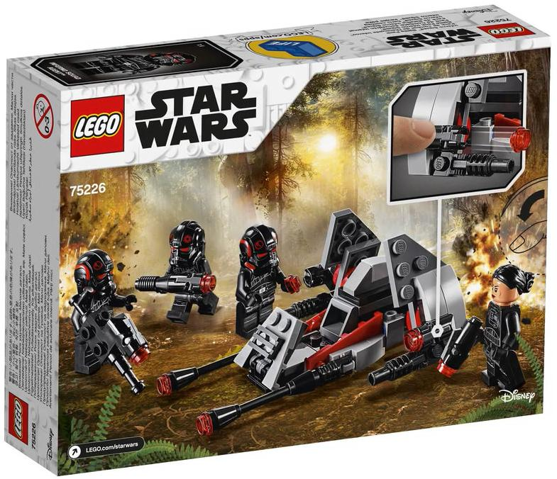 LEGO 75226 Inferno Squad Battle Pack Box Back Cover