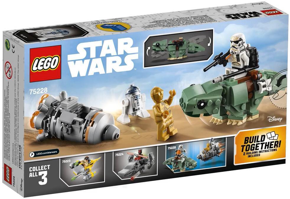 LEGO 75228 Escape Pod vs Dewback Microfighters Box Back Cover