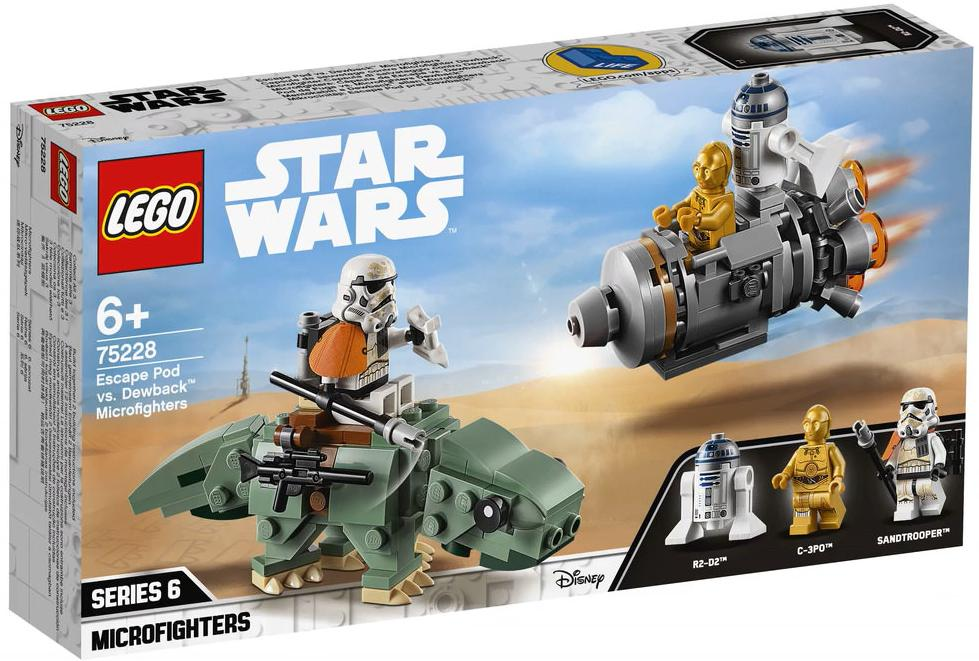 LEGO 75228 Escape Pod vs Dewback Microfighters Box Front Cover