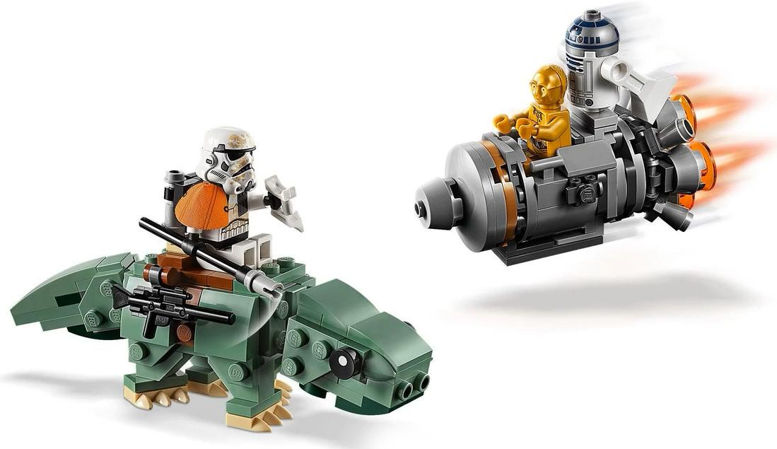LEGO 75228 Escape Pod vs Dewback Microfighters Build