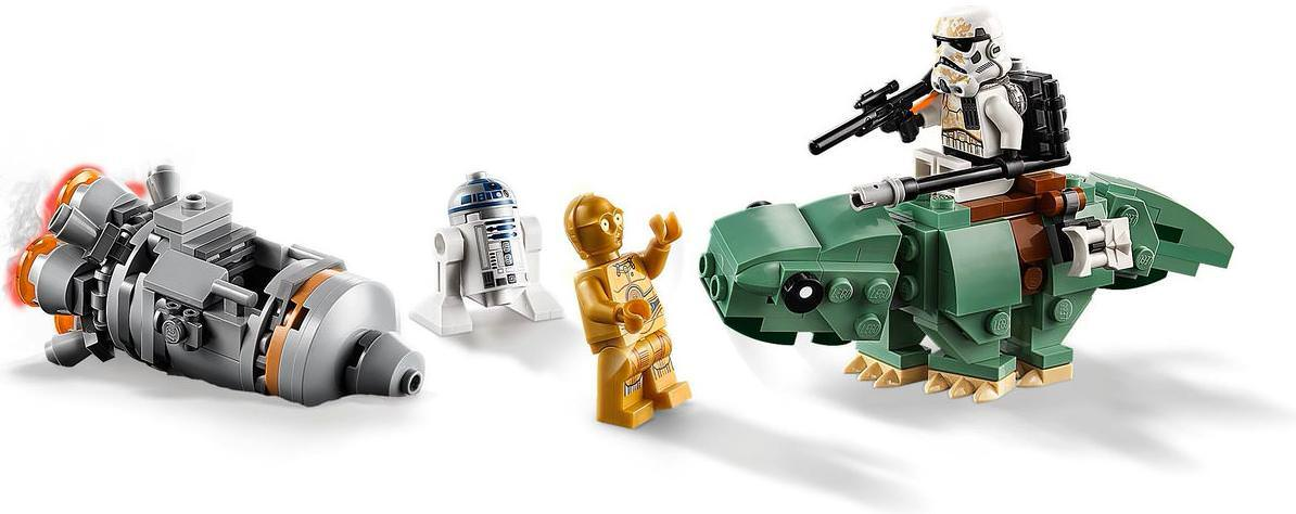 LEGO 75228 Escape Pod vs. Dewback Microfighters Set Contents