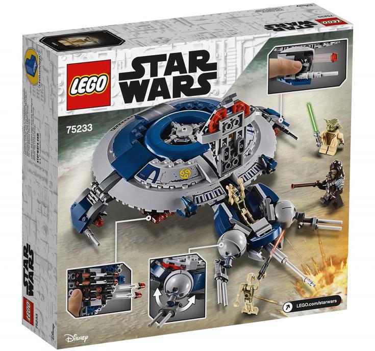 LEGO 75233 Droid Gunship Box Back Cover