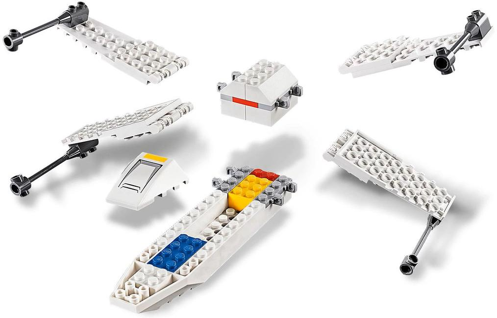 LEGO 75235 X-wing Starfighter Trench Run Build