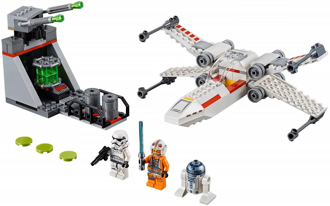 LEGO 75235 X-wing Starfighter Trench Run Playable Set Contents 2