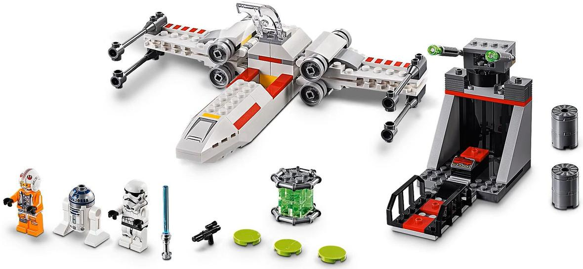 LEGO 75235 X-wing Starfighter Trench Run Set Contents