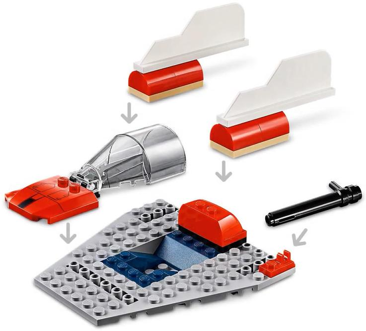 LEGO 75247 Rebel A-wing Starfighter Playable Functions