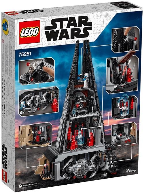 LEGO 75251 Darth Vader's Castle Box Back Cover