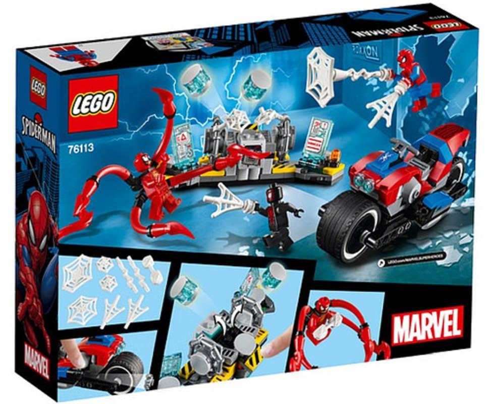LEGO 76113 Spider-Man Bike Rescue Set Box Back Cover