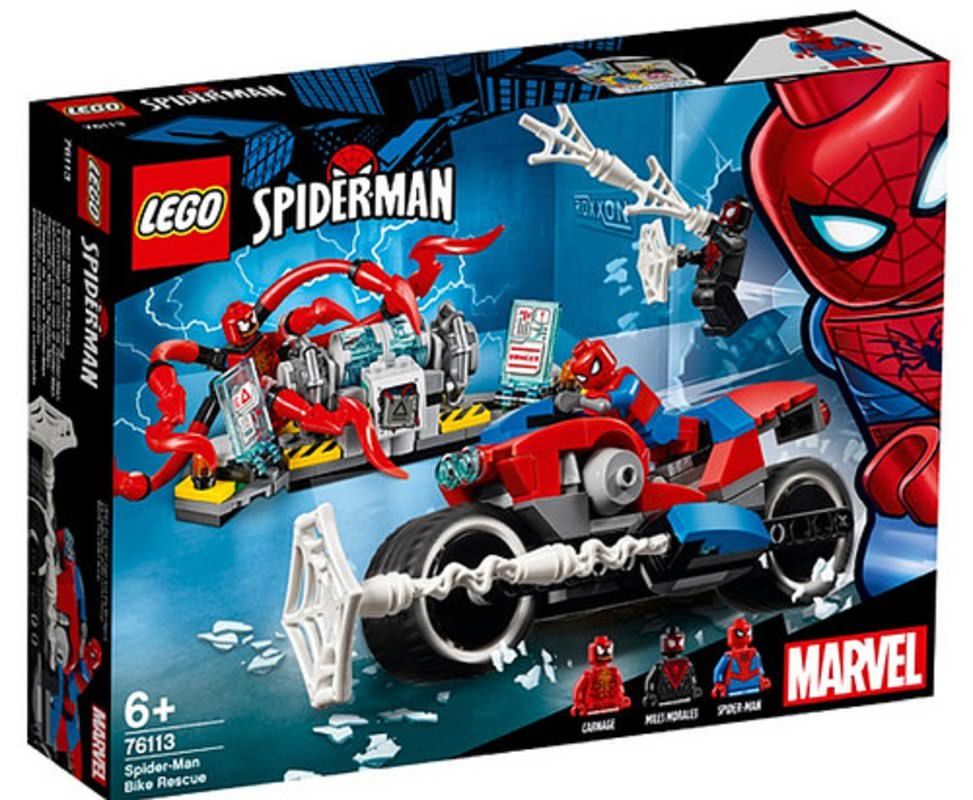 LEGO 76113 Spider-Man Bike Rescue Set Box Front Cover