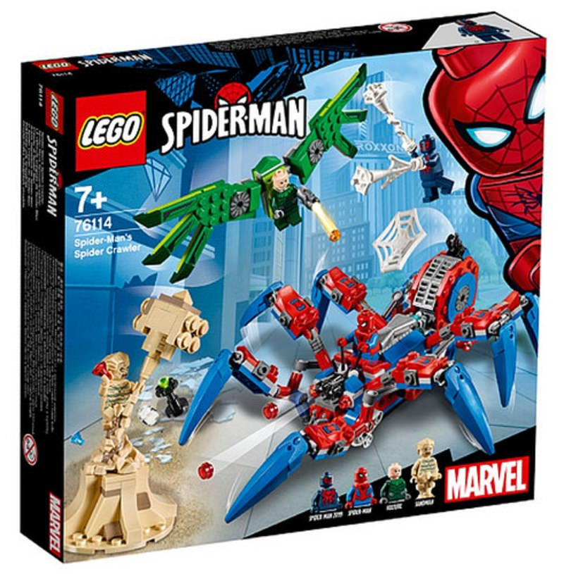 LEGO 76114 Spider-Man's Spider Crawler Set Box Front Cover