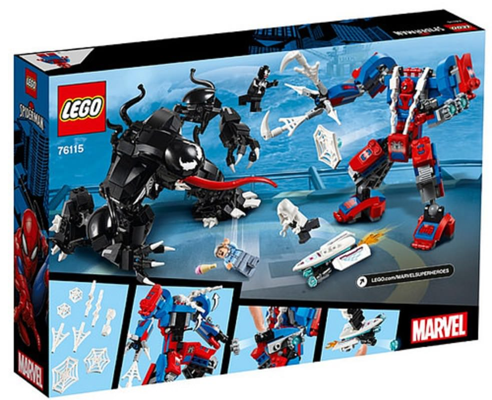 LEGO 76115 Spider-Mech vs. Venom Set Box Back Cover