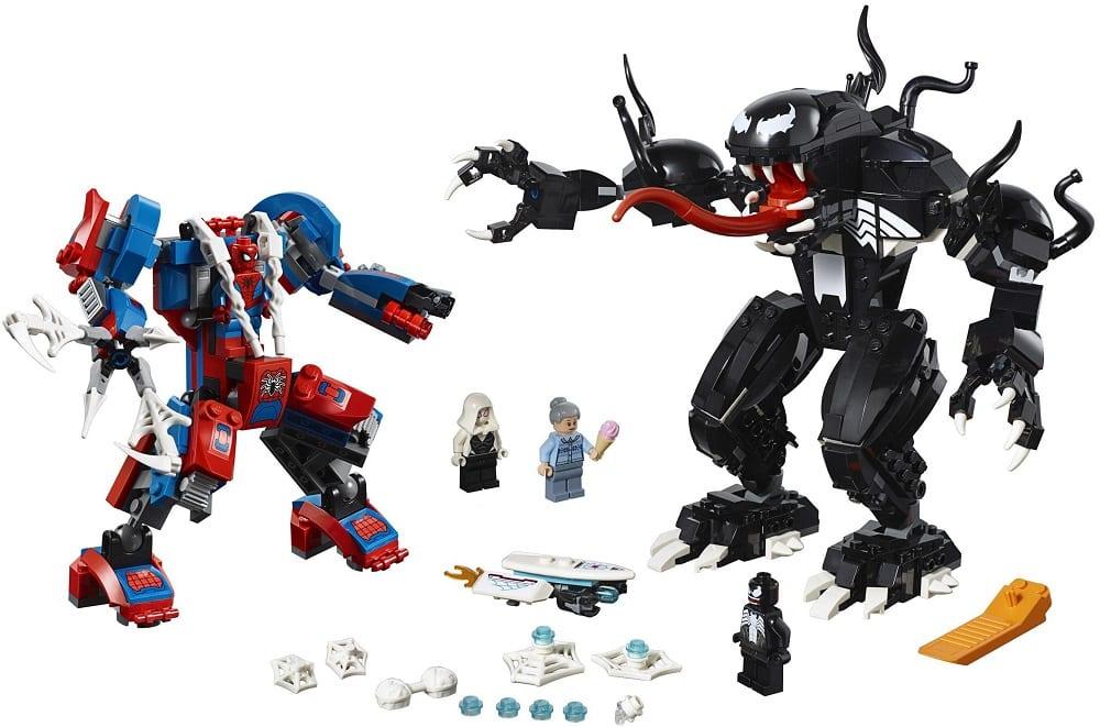 LEGO 76115 Spider-Mech vs. Venom Set Contents - Builds and Minifigures