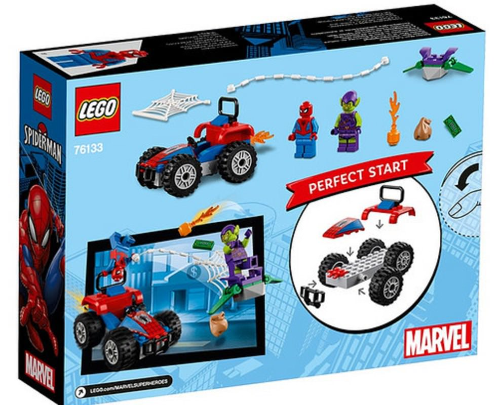 LEGO 76133 Spider-Man Car Chase Set Box Back Cover