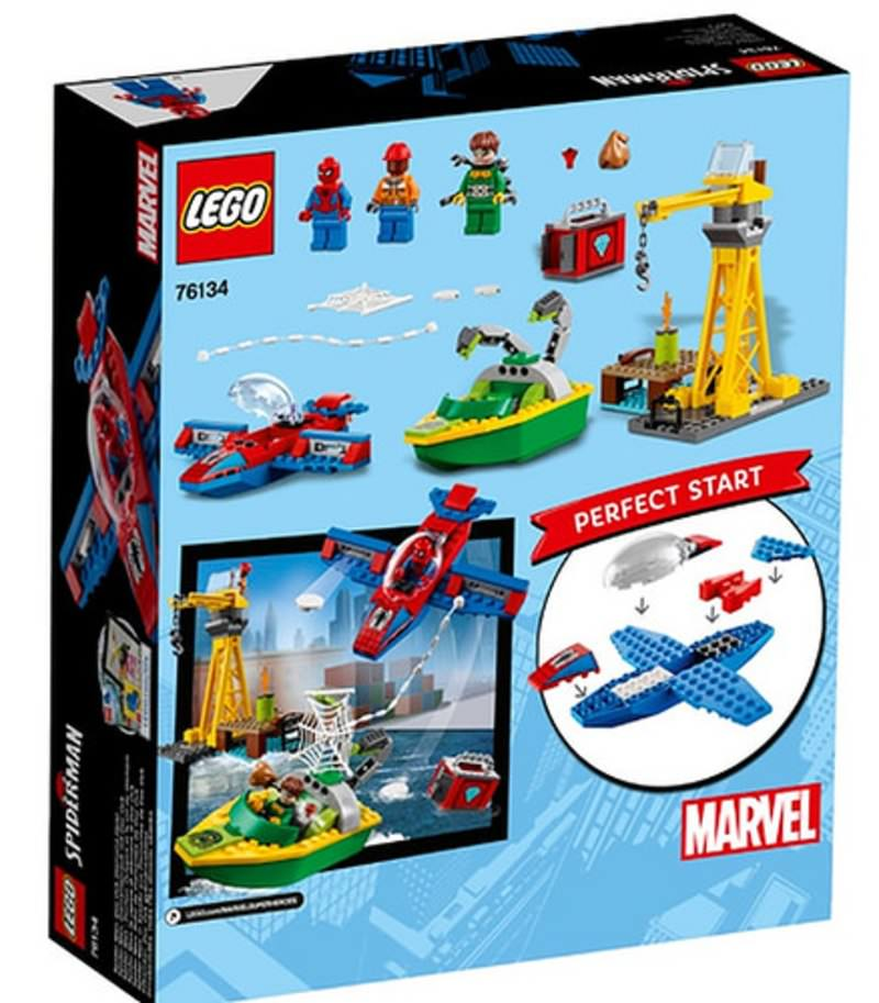 LEGO 76134 Spider-Man Doc Ock Diamond Heist Set Box Back Cover