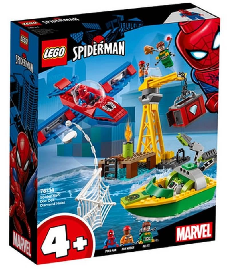 LEGO 76134 Spider-Man Doc Ock Diamond Heist Set Box Front Cover
