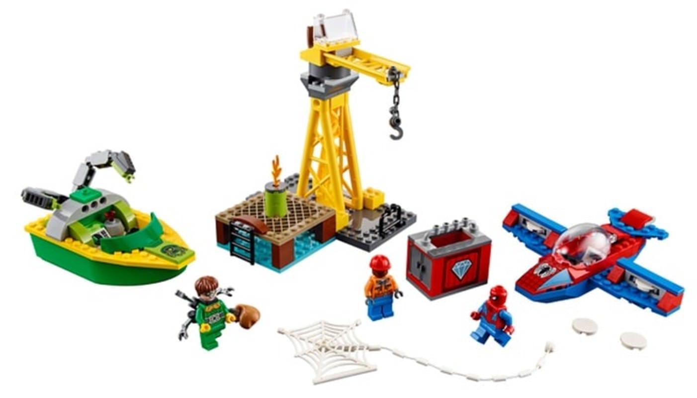 LEGO 76134 Spider-Man Doc Ock Diamond Heist Set Contents