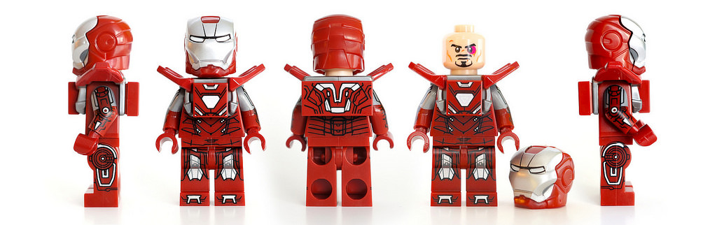 "LEGO Iron Man Mark 33 ""Silver Centurion"" Suit Armor Minifigure"