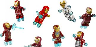 LEGO Iron Man Minifigures in different Suits and Armors