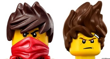 LEGO Kai Minifigure Original vs Movie Hair Piece