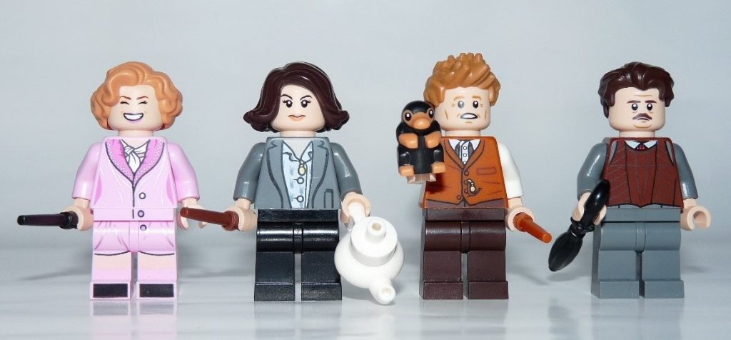 LEGO Newt´s Case of Magical Creatures Minifigures Queenie Goldstein, Tina Goldstein, Newt Scamander and Jacob Kowalski - 75952 Set