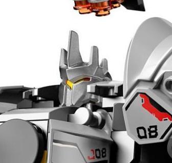 LEGO Overwatch Reinhardt Rhino Helmet Minifigure