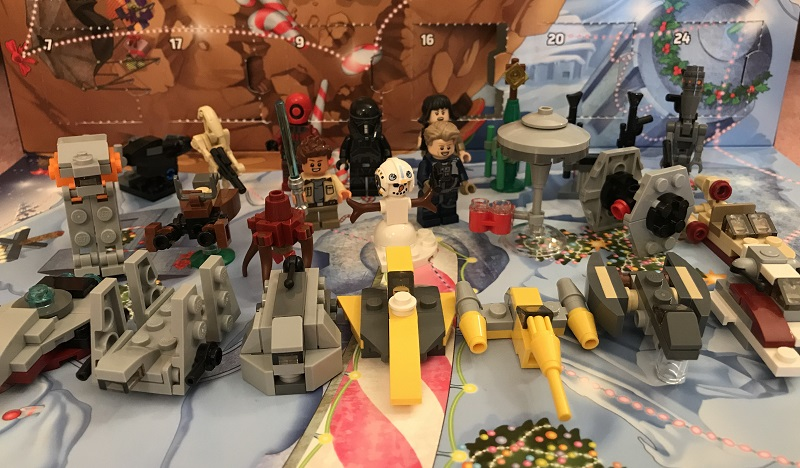 LEGO Star Wars Advent Calendar 2018 Finished Builds 75213