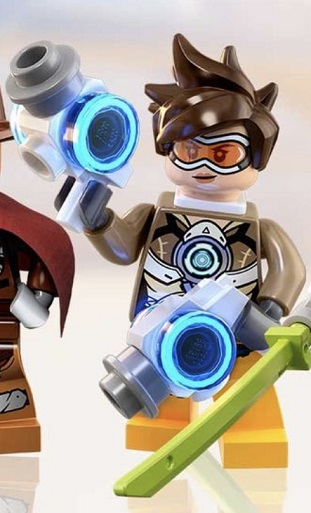 LEGO Tracer Overwatch Minifigure with Two White Guns