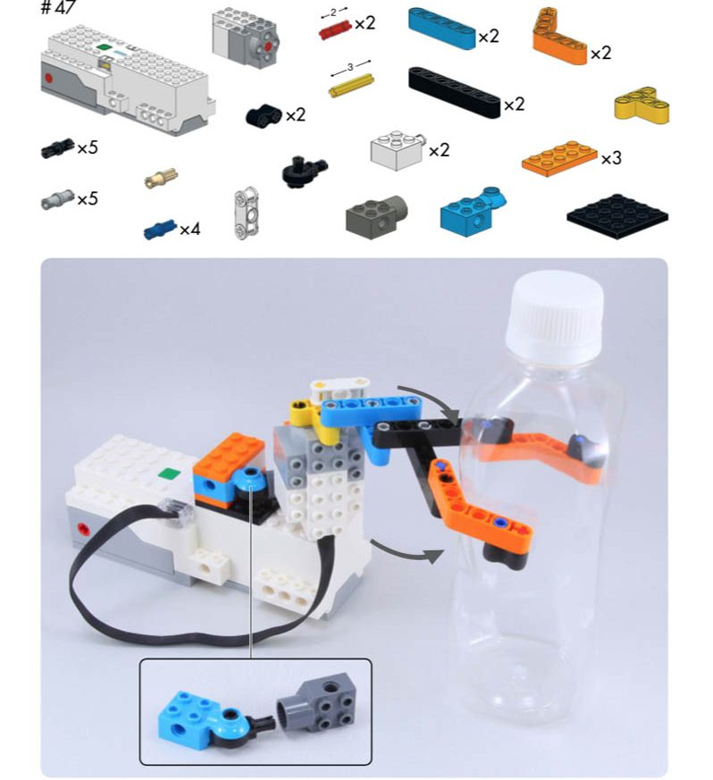 LEGO Boost Idea Book piece list and final product